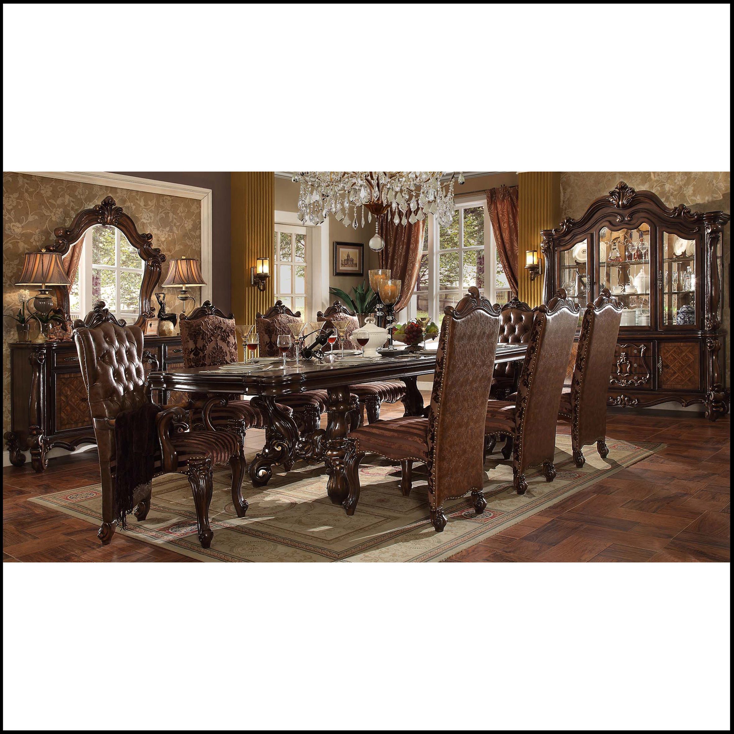 Lady Beatrice 9 piece dark dining room (Eastern Cape and Gauteng ONLY)